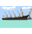 ship at the pier vector image vector image