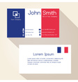 simple france colors business card design eps10 vector image vector image