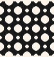 simple polka dot monochrome seamless pattern vector image