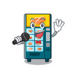 singing bakery vending machine in a mascot vector image vector image
