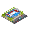 Sport Complex Stadium Isometric Banner vector image
