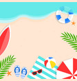 summer time summer beach background vector image vector image