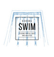 swim school emblem vector image