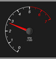 tachometer black vehicle gauge scale vector image vector image