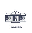 university line icon concept university vector image vector image