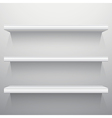 White background shelves vector image vector image