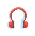 Wireless Red Headphones For Listening To Music vector image vector image