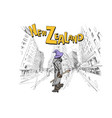 wizard is riding on skateboard in city wellington vector image vector image