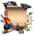 Pirate Frame vector image