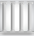 Roman columns isolated on white background vector image