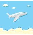 airplane icon cartoon plane in blue sky vector image