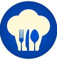 Blue Chef Hat Symbol vector image
