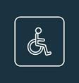 handicapped man outline symbol premium quality vector image