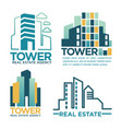 real estate agency or company labels vector image