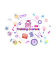 training courses banner online education elearning vector image