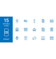 15 front icons vector image vector image