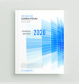 abstract blue business brochure leaflet design vector image vector image