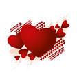 abstract form of red hearts vector image
