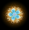 Abstract Turquoise Flower vector image vector image