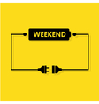 Abstract weekend loading vector image vector image
