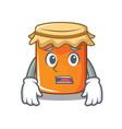 afraid jam mascot cartoon style vector image vector image