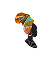 african woman silhouette with an african map as a vector image vector image