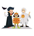 all hallows eve day horror party poster vector image vector image