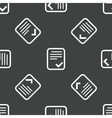 Approved document pattern vector image vector image