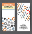 banners with bolts nuts nails vector image vector image