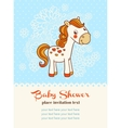 bashower invitation card with horse vector image vector image