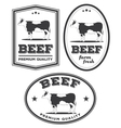Beef vintage labels vector image
