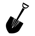 big shovel icon simple style vector image