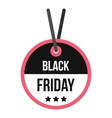 Black Friday sale tag icon flat style vector image