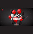 black friday sale web banner vector image vector image