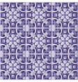 blue pattern of ceramic tiles vector image