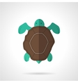 Brown turtle flat icon vector image vector image