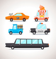 Car Flat Icon Set 2 vector image