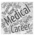 Career Medical Training Word Cloud Concept vector image vector image