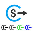 cash out flat icon vector image vector image