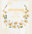 chamomile flowers wedding wreath card vector image vector image