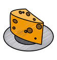 cheese dairy food vector image vector image
