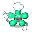 chef free form character cartoon vector image vector image