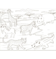coloring book educational game african savannah vector image vector image