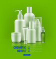 cosmetic bottle realistic vector image vector image