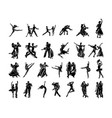 dancer people silhouette collection vector image vector image