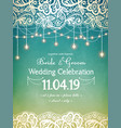 decorative holiday lights with decorative lace vector image vector image