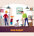 dog robot repair vector image vector image