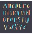 doodles alphabet vector image