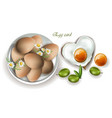 eggs breakfast realistic menu page vector image