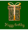 Elegant filigree Birthday card in format vector image vector image
